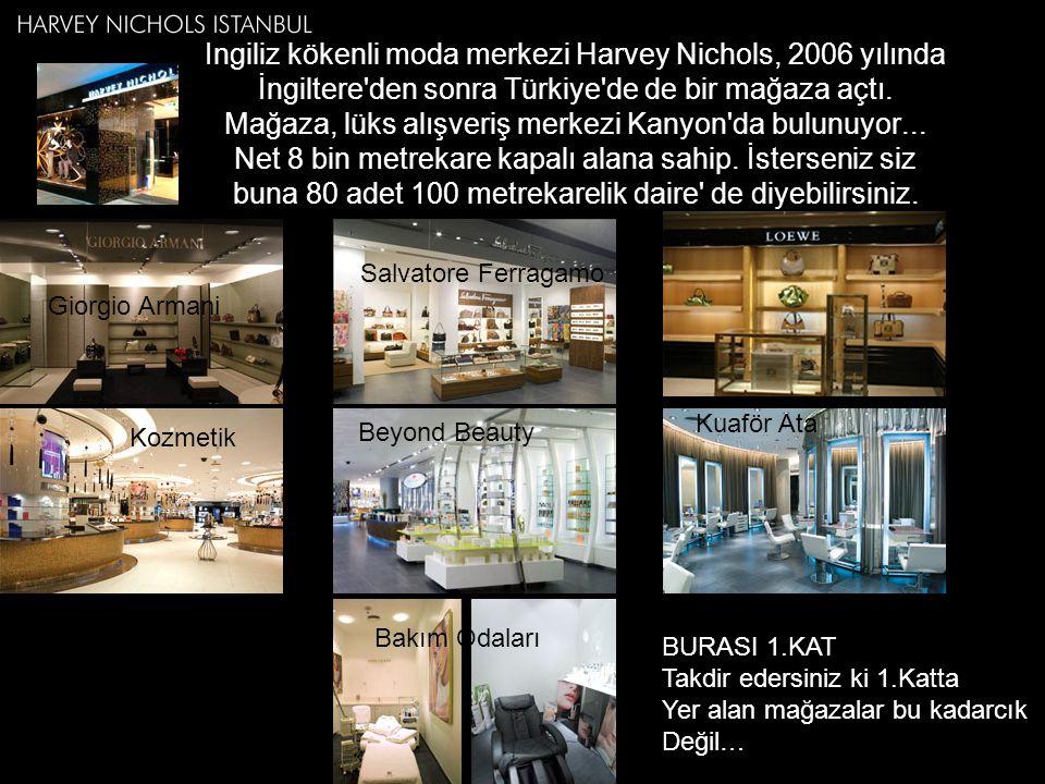 İngiliz kökenli moda merkezi Harvey Nichols, 2006 yılında İngiltere'den sonra Türkiye'de de bir mağaza açtı. Mağaza, lüks alışveriş merkezi Kanyon'da