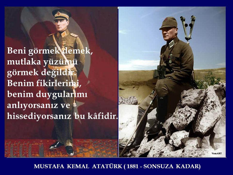 Büyük ölülere matem gerekmez, fikirlerine bağlılık gerekir. Benim, Türk milleti için yapmak istediklerim ve başarmaya çalıştıklarım ortadadır. Benden