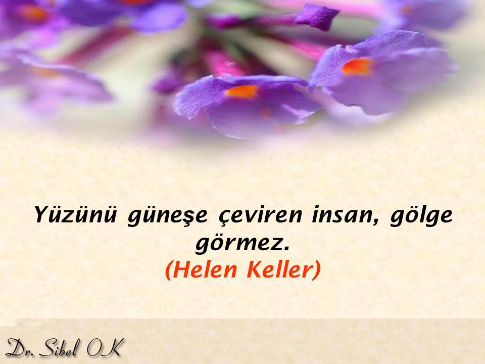 Çiçe ğ in dikeni var diye üzülece ğ imize, dikenin çiçe ğ i var diye sevinelim. (Goethe)