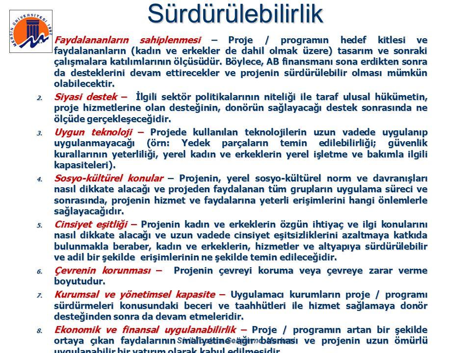 Sivil Toplum Geliştirme MerkeziSürdürülebilirlik 1. Faydalananların sahiplenmesi – Proje / programın hedef kitlesi ve faydalananların (kadın ve erkekl
