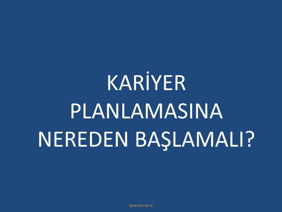 KARİYER PLANLAMASINA NEREDEN BAŞLAMALI? kademe.com.tr