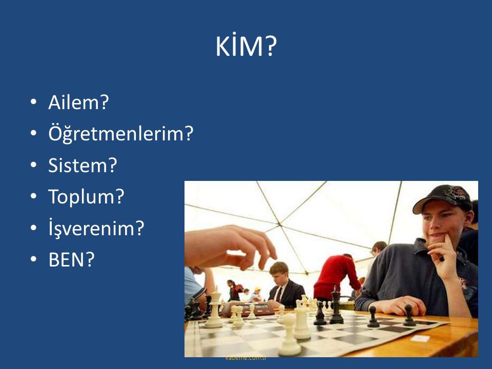 KİM? • Ailem? • Öğretmenlerim? • Sistem? • Toplum? • İşverenim? • BEN? kademe.com.tr