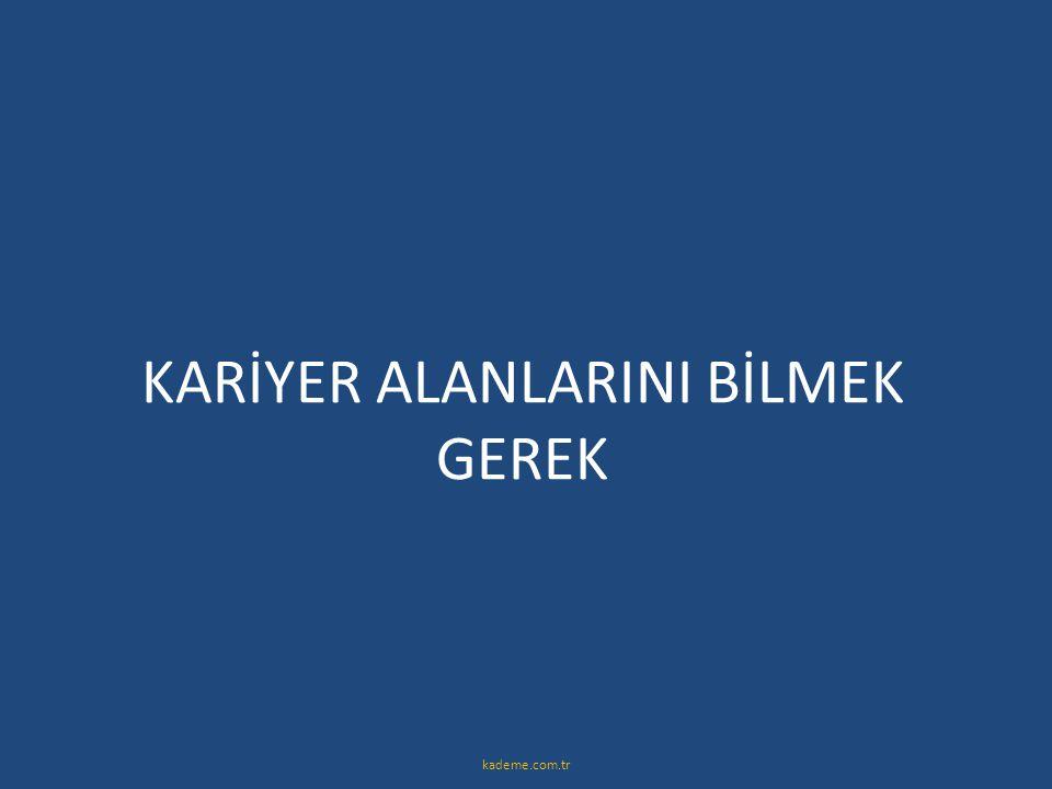 KARİYER ALANLARINI BİLMEK GEREK kademe.com.tr