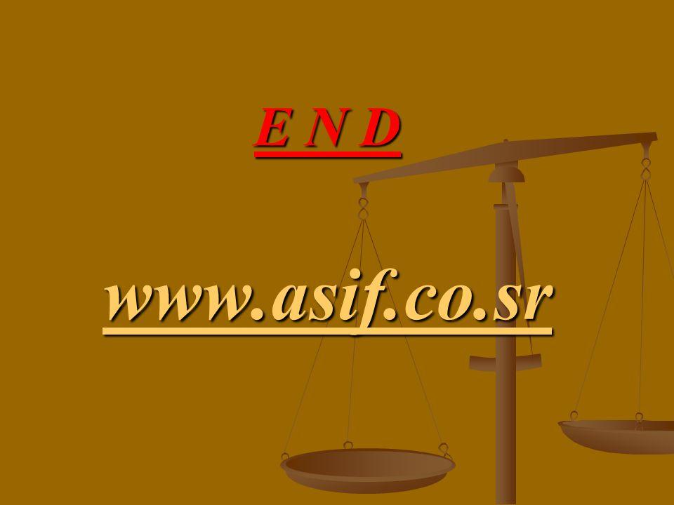 E N D www.asif.co.sr