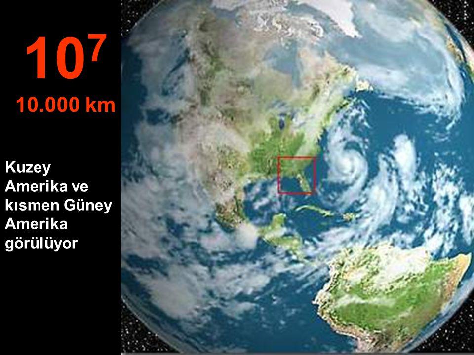 Uydudan tipik bir görüntü 10 6 1.000 km
