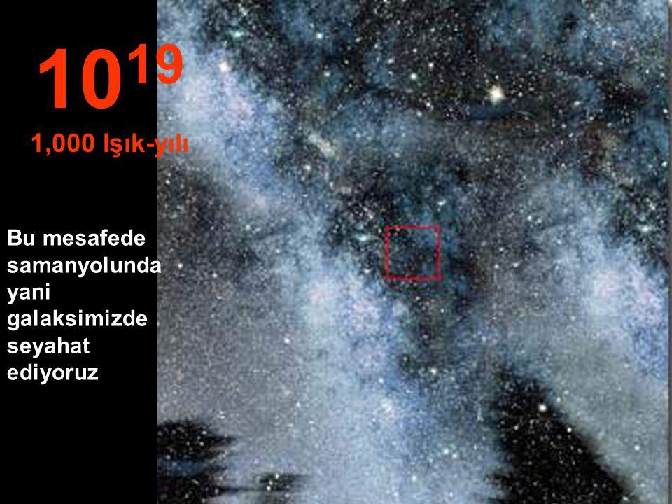 """""""Sadece"""" Yıldızlar ve Nebula 10 18 100 Işık-yılı"""