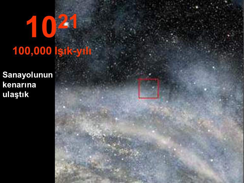 Samanyolunda seyahate devam... 10 20 10,000 Işık-yılı