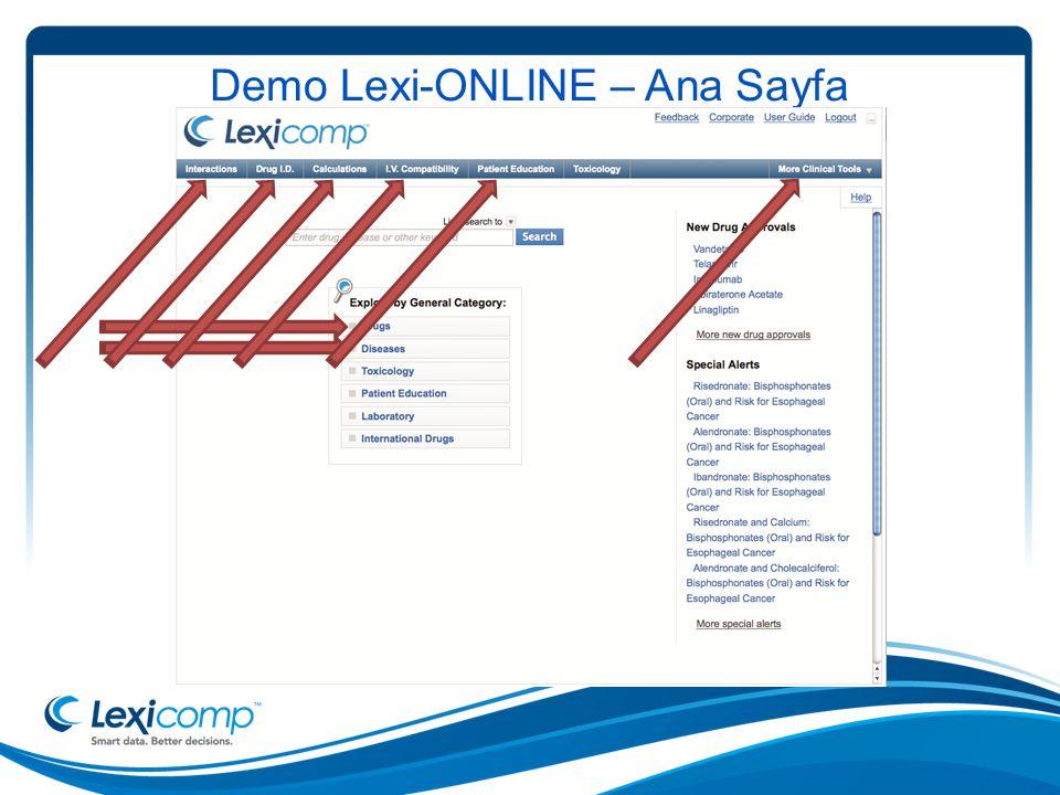 Demo Lexi-ONLINE – Ana Sayfa