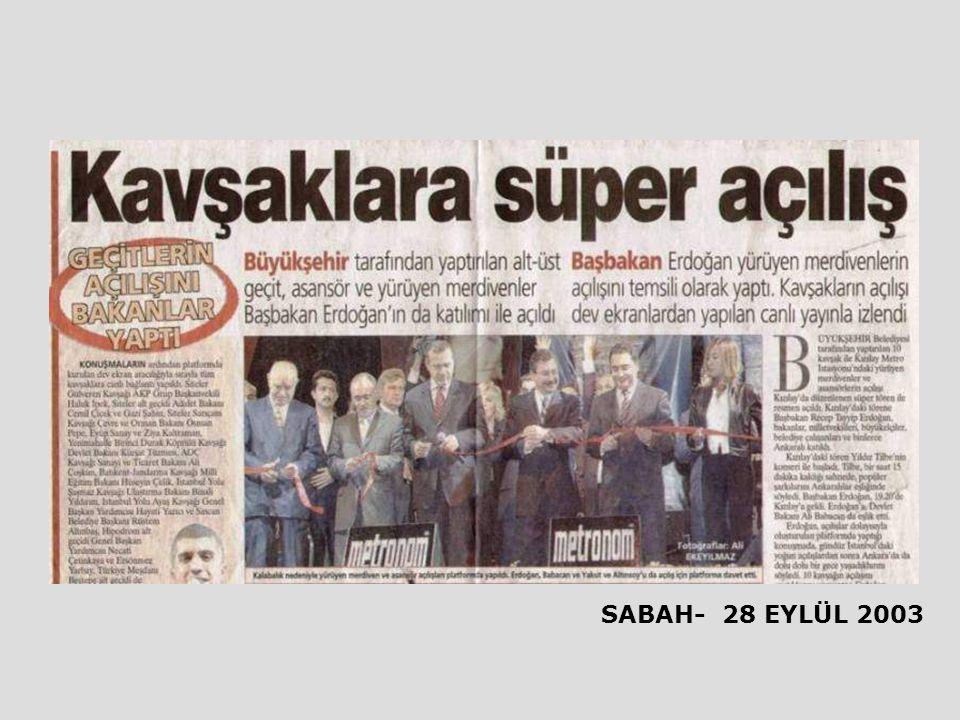 SABAH- 28 EYLÜL 2003