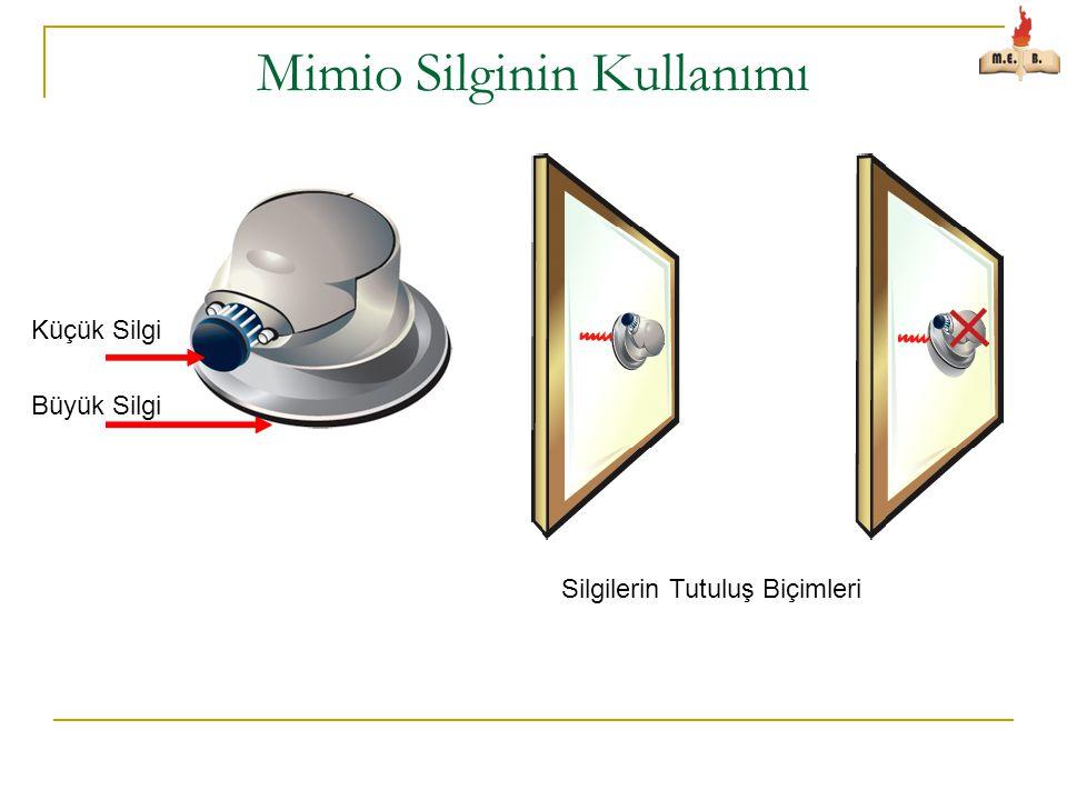 Mimio Silginin Kullanımı Küçük Silgi Büyük Silgi Silgilerin Tutuluş Biçimleri