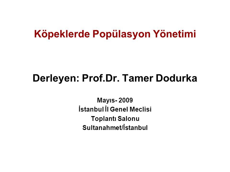 Köpeklerde Popülasyon Yönetimi Derleyen: Prof.Dr.