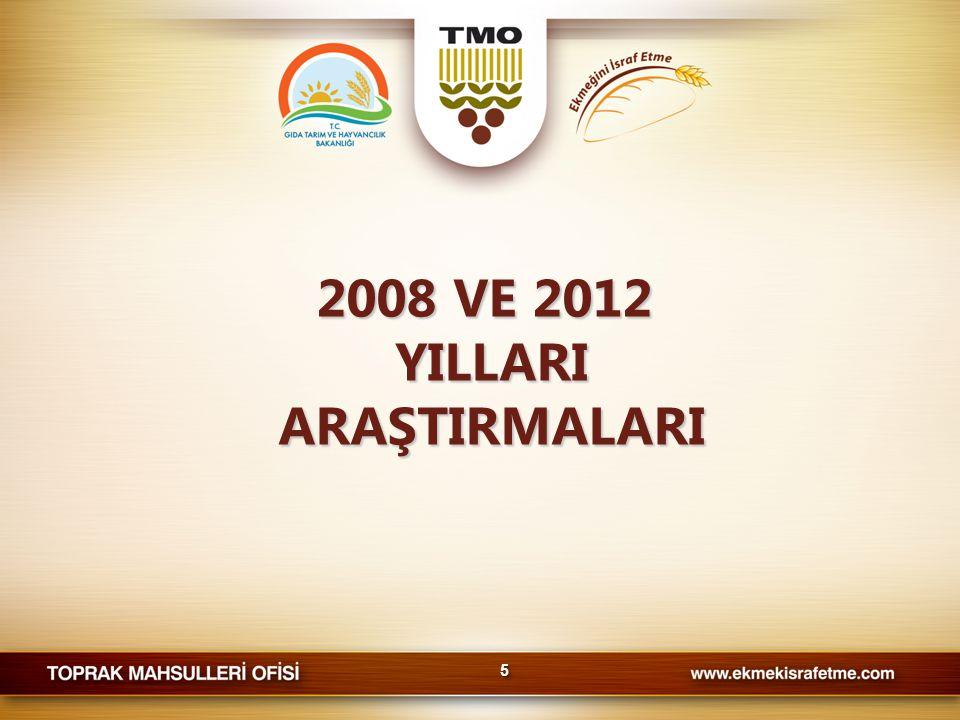 2008 VE 2012 YILLARI ARAŞTIRMALARI 55
