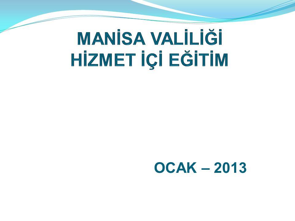 OCAK – 2013