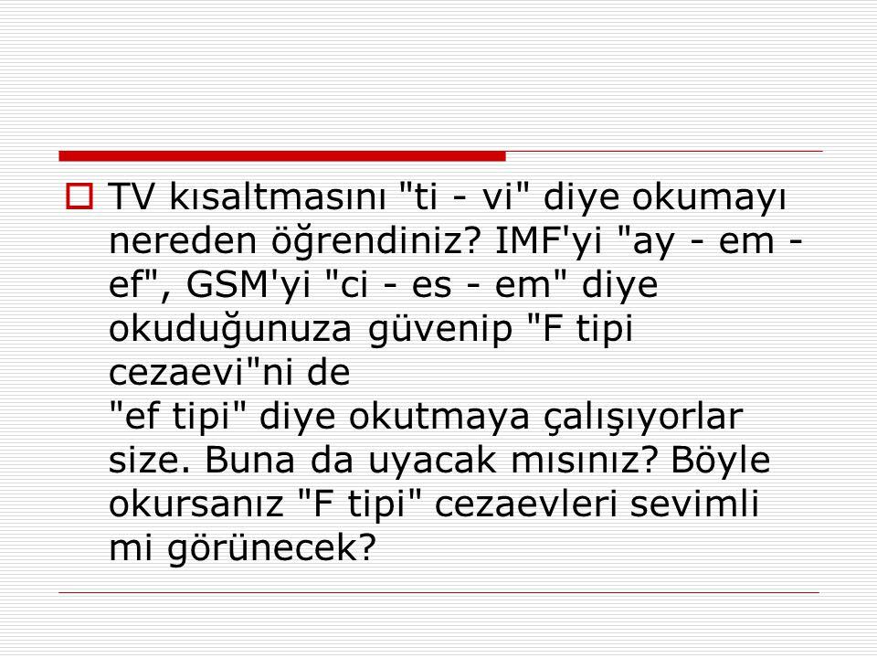  TV kısaltmasını
