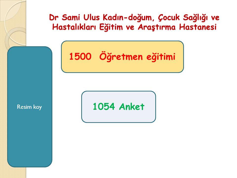 Dr Sami Ulus Kadın-doğum, Çocuk Sağlığı ve Hastalıkları Eğitim ve Araştırma Hastanesi 1500 Öğretmen eğitimi 1054 Anket Resim koy