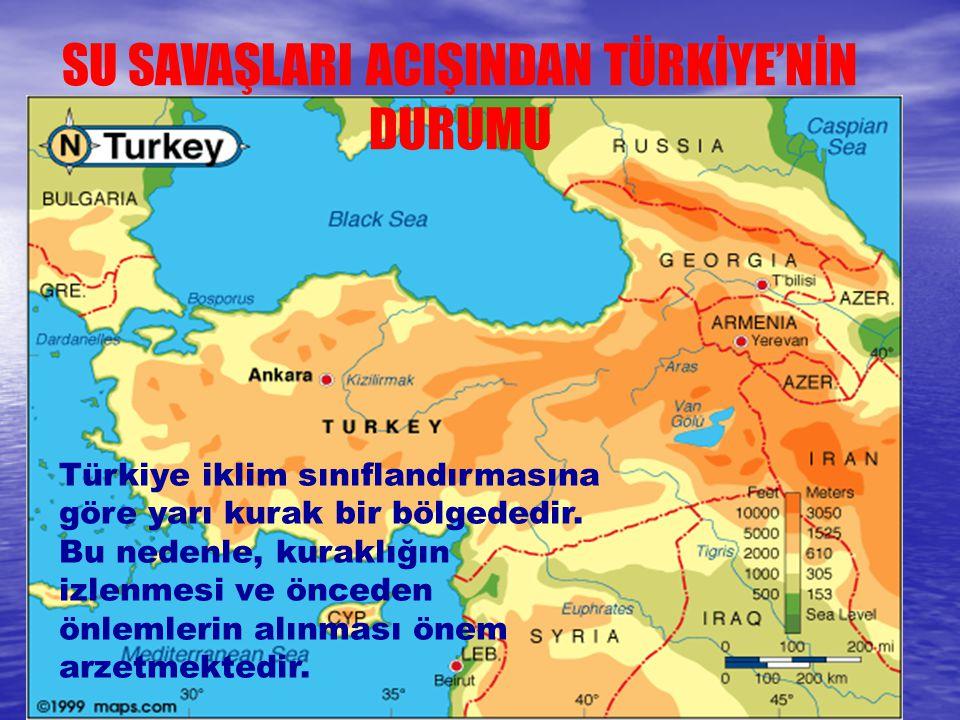 Türkiye iklim sınıflandırmasına göre yarı kurak bir bölgededir. Bu nedenle, kuraklığın izlenmesi ve önceden önlemlerin alınması önem arzetmektedir. SU