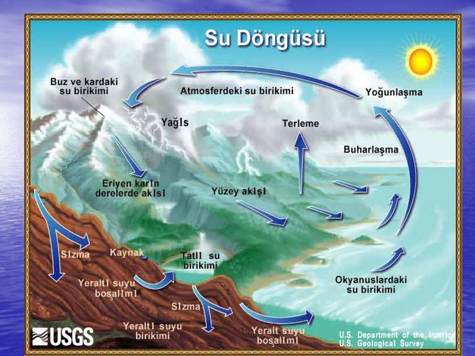 •Nehirlerin çoğunun kuruduğu ve dünyanın 3'te 1'lik bölümünde su kuyularında arsenik kirlenmesi mevcut olduğu tesbit edilmiştir.