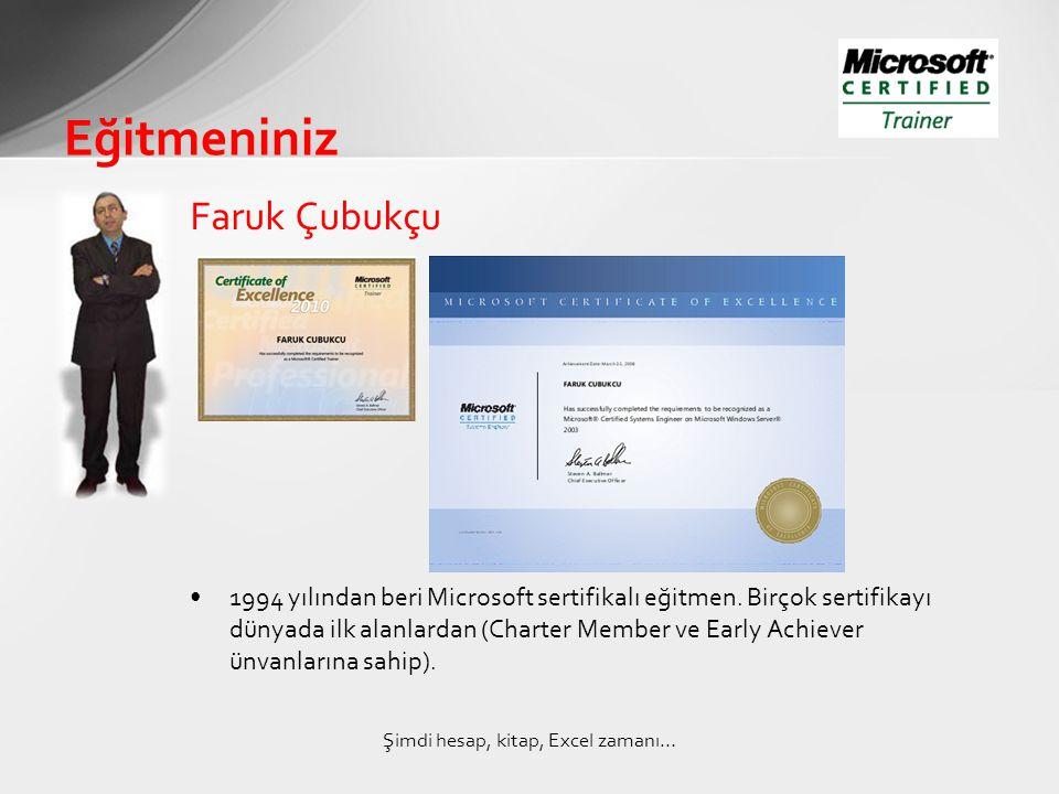 Faruk Çubukçu •1994 yılından beri Microsoft sertifikalı eğitmen.