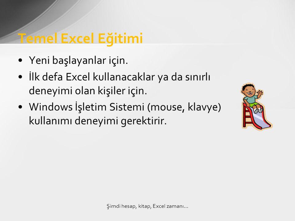 1)Windows işletim sistemi ve Excel üzerinde temel bilgilere sahip olmak 2)Günlük işlerinde Excel'i kullanıyor olmak 3)Düzey testlerinden yeterli puan almak ve gerekli ön yeteneklere sahip olmak.