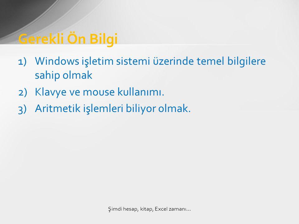 1)Windows işletim sistemi üzerinde temel bilgilere sahip olmak 2)Klavye ve mouse kullanımı.