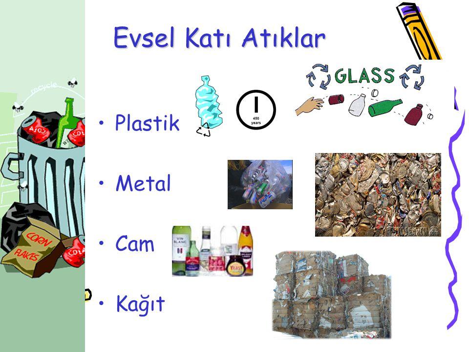 Evsel Katı Atıklar •Plastik •Metal •Cam •Kağıt