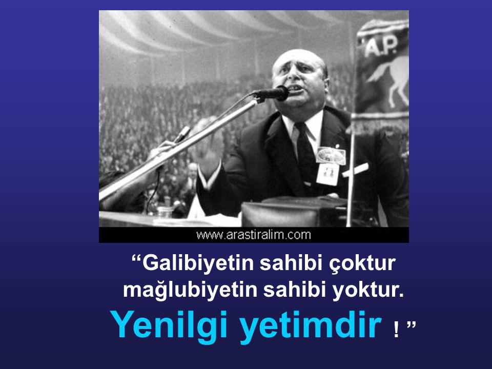 Deniz Gezmiş ve arkadaşları asıldığında Adnan Menderes Hasan Polatkan ve Fatin Rüştü Zorlu 'nun asılması olayına gönderme yaparak