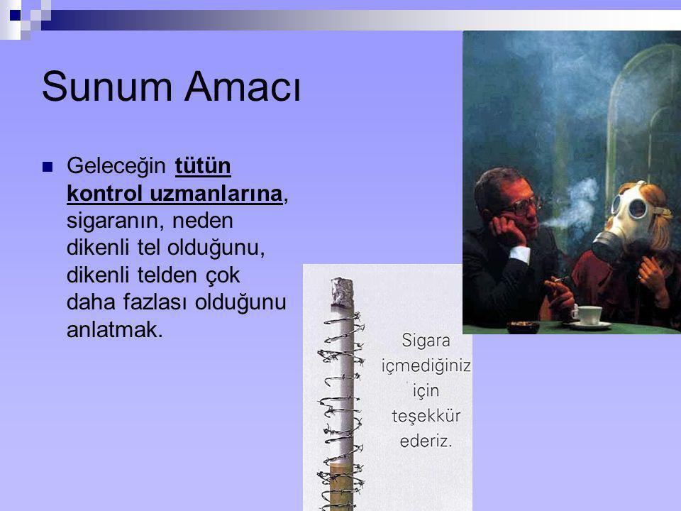 Öğrenim Hedefleri  Bu oturumun sonunda, katılımcılar sigaranın komponentlerini, bunların bulunma nedenlerini (doğal, manuplatif) ve bu bilgilerin tütün kontrolündeki yerini tanımlayabilmelidirler.