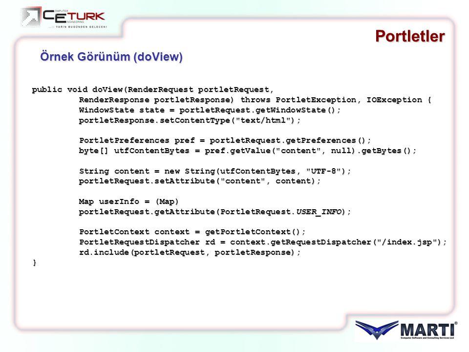 Portletler public void doView(RenderRequest portletRequest, RenderResponse portletResponse) throws PortletException, IOException { WindowState state =