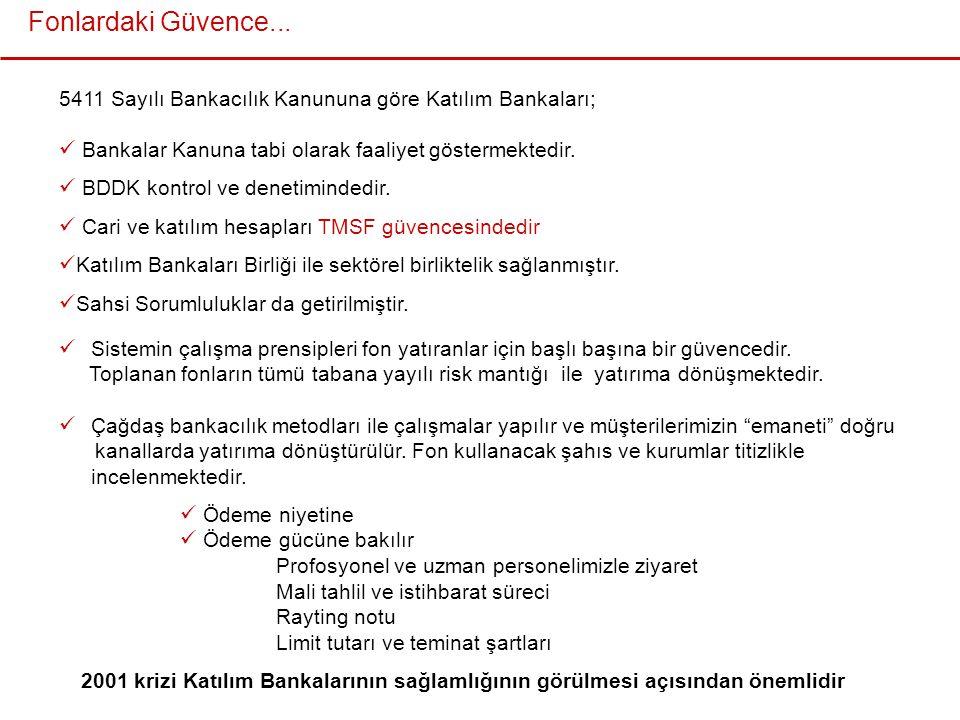 5411 Sayılı Bankacılık Kanununa göre Katılım Bankaları;  Bankalar Kanuna tabi olarak faaliyet göstermektedir.