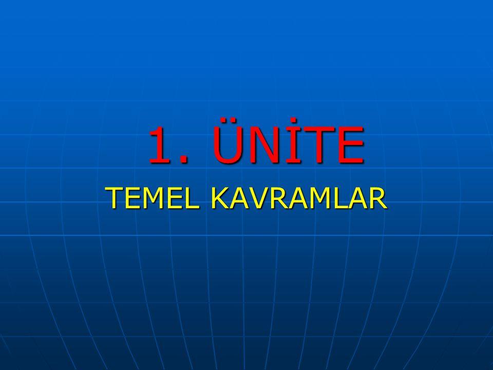 1. ÜNİTE 1. ÜNİTE TEMEL KAVRAMLAR