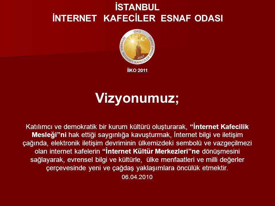 İLKELERİMİZ; Öncelikle İstanbul İnternet Kafeciler Esnaf Odası üyelerine olmak üzere; Yurdun dört bir yanında mesleği icra eden işletmecilere, ahilik kültürümüzden bizlere intikal eden gelenekler çerçevesinde rehberlik etmek amacındayız.