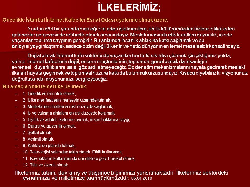 Proje 2011 GÜVENLİ WEBFİLTRE Pro V3.0 TIB PROJESİ İSTANBUL İNTERNET KAFECİLER ESNAF ODASI