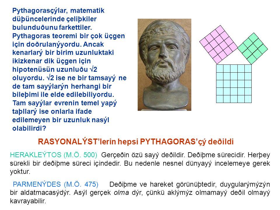 Pythagorasçýlar, matematik düþüncelerinde çeliþkiler bulunduðunu farkettiler.
