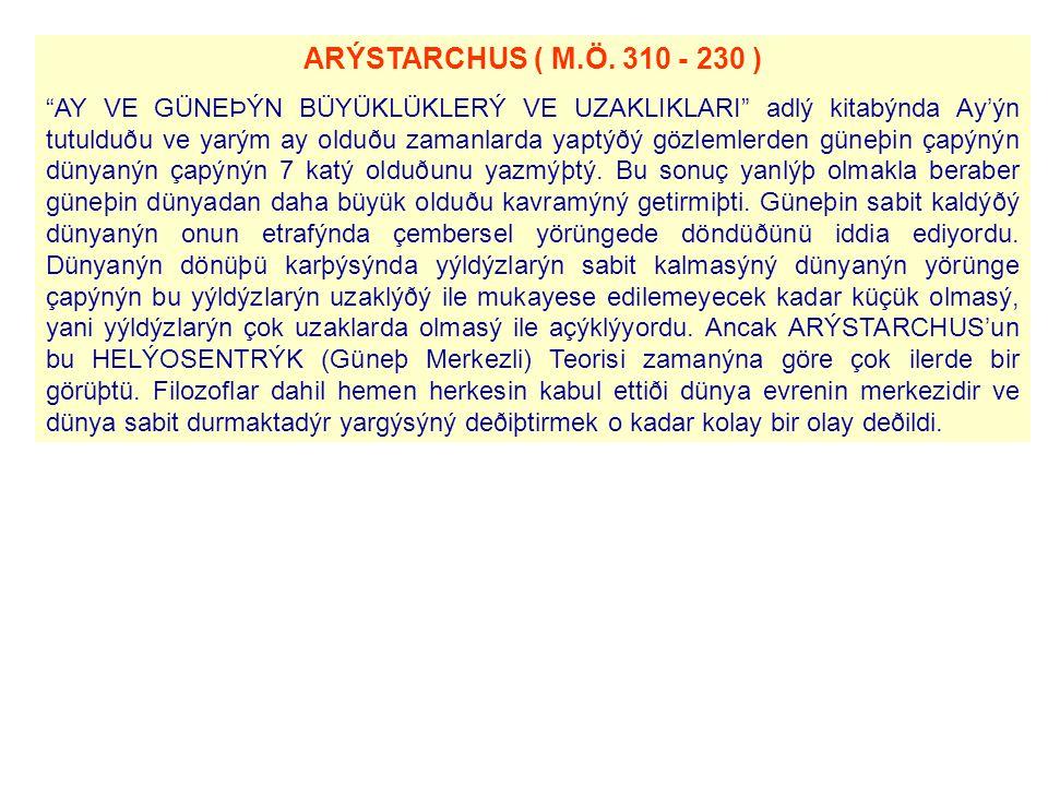 ARÝSTARCHUS ( M.Ö.