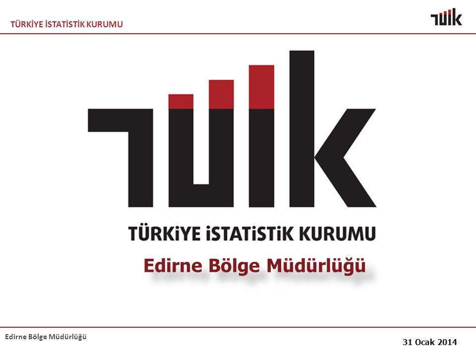 TÜRKİYE İSTATİSTİK KURUMU Edirne Bölge Müdürlüğü 31 Ocak 2014