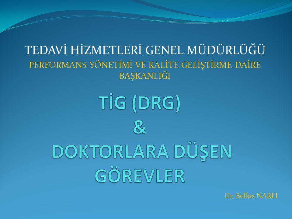Konu Başlıklarımız 1.TİG (DRG) nedir . 2. Klinik kodlama sürecinin ideal yapısı nasıldır.