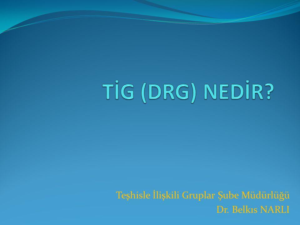 Örnek:DRG dönüşümüne kodlamanın etkisi  Sol memenin üst-dış kadranında karsinom eksizyonu  Temel tanı: C50.4 Memenin üst-dış kadranında malign neoplazması  İşlemler: 30347-00 Meme lezyonunun eksizyonu  92514-10 Genel anestezi, ASA 10  DRG J07A: Malign meme hastalıkları için yapılan minör işlemler  DRG bağıl değeri 1.00  Sol memenin üst-dış kadranında karsinom ve aksiller lenf nodu eksizyonu  Temel tanı: C50.4 Memenin üst-dış kadranında malign neoplazması  İşlemler: 30347-00 Meme lezyonunun eksizyonu  30335-00 Aksiller lenf nodu eksizyonu  92514-10 Genel anestezi, ASA 10  DRG J06A: Malign meme hastalıkları için yapılan majör işlemler  DRG bağıl değeri 1.72
