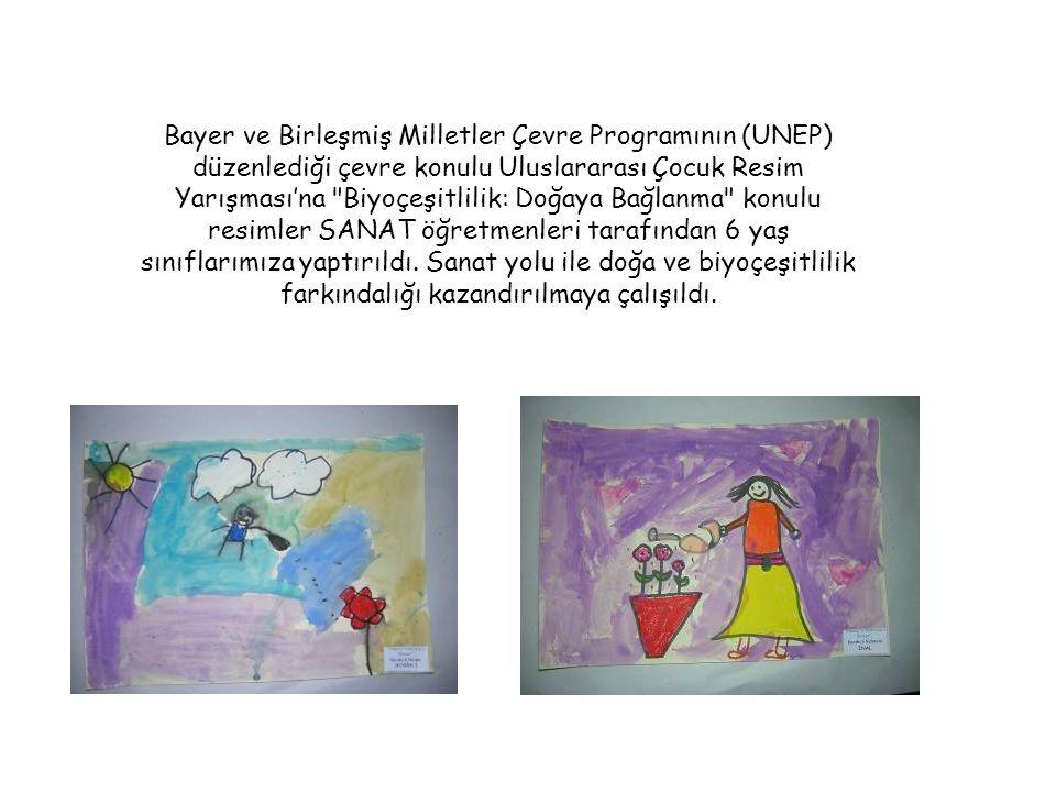 Bayer ve Birleşmiş Milletler Çevre Programının (UNEP) düzenlediği çevre konulu Uluslararası Çocuk Resim Yarışması'na