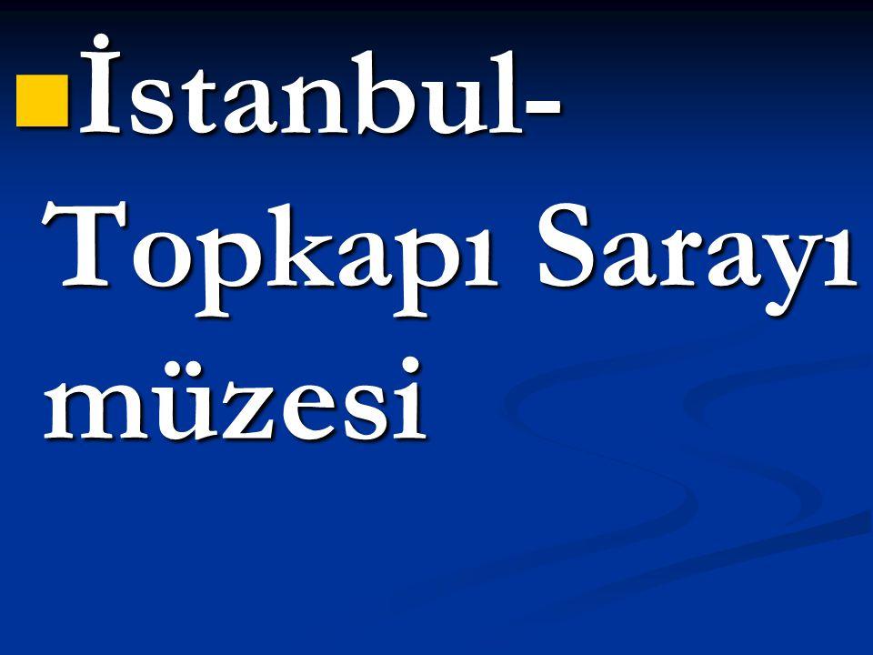  İstanbul- Topkapı Sarayı müzesi