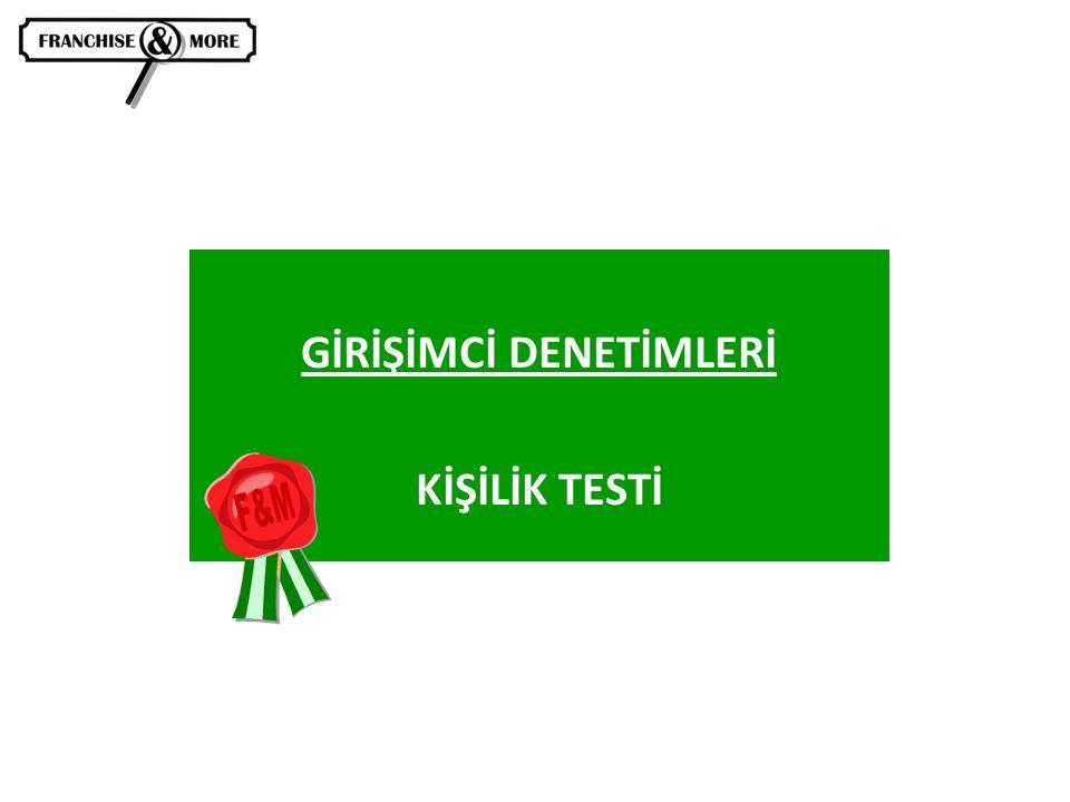 GİRİŞİMCİ DENETİMLERİ KİŞİLİK TESTİ