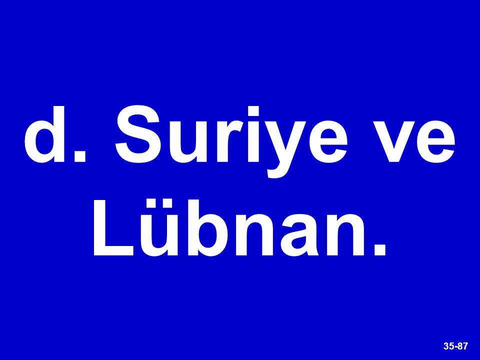 35-87 d. Suriye ve Lübnan.