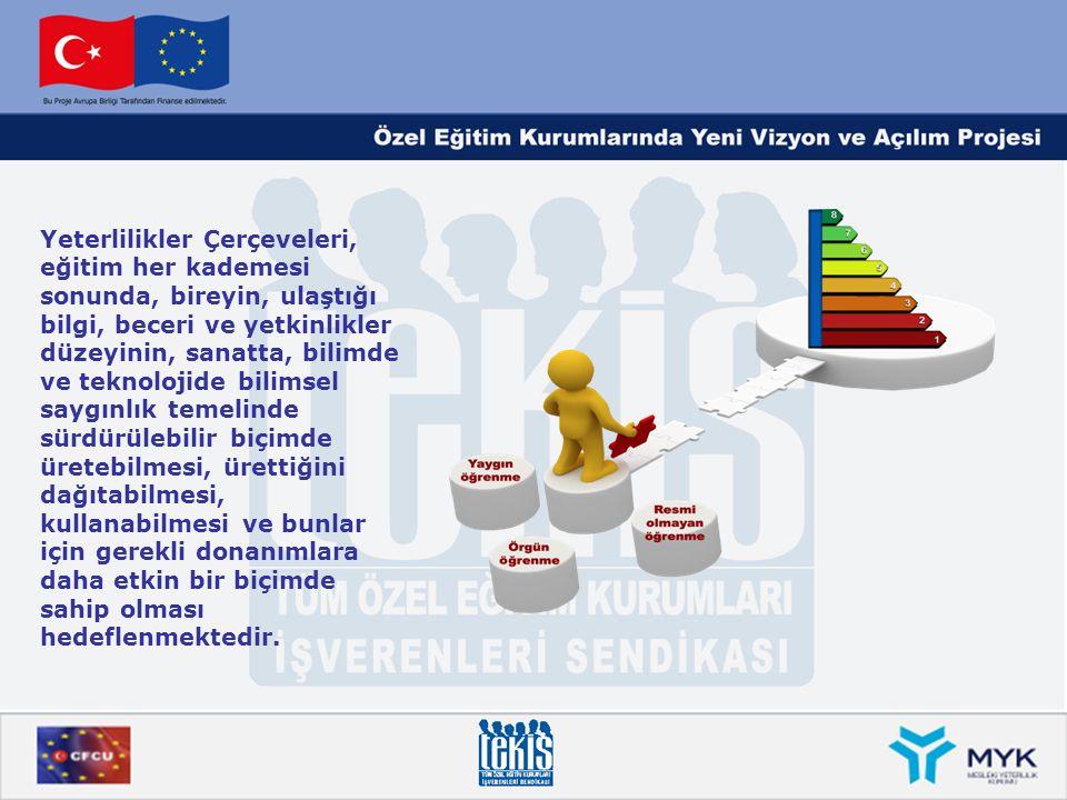 Avrupa Yeterlilikler Çerçevesi Seviye ve Seviye Tanımlayıcıları SeviyeSeviye TanımlayıcıYeterlilik Örnekleri BilgiBeceriYetkinlik Seviye 5 Çalışan, bir alanda kapsamlı, uzmanlaşma gerektiren, pratik ve teorik bilgiye ve bilgi temelinin sınırlarıyla ilgili farkındalığa sahiptir.