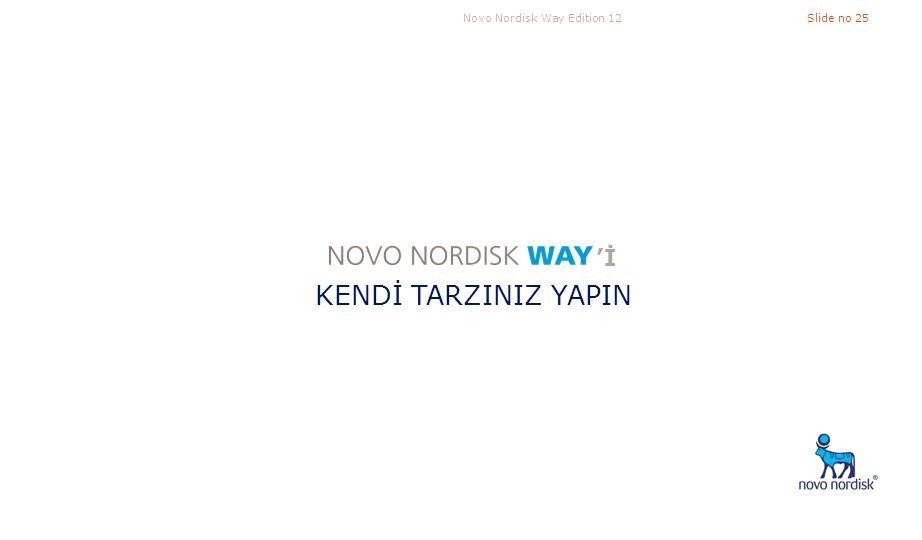Novo Nordisk Way Edition 12Slide no 25 KENDİ TARZINIZ YAPIN 'İ