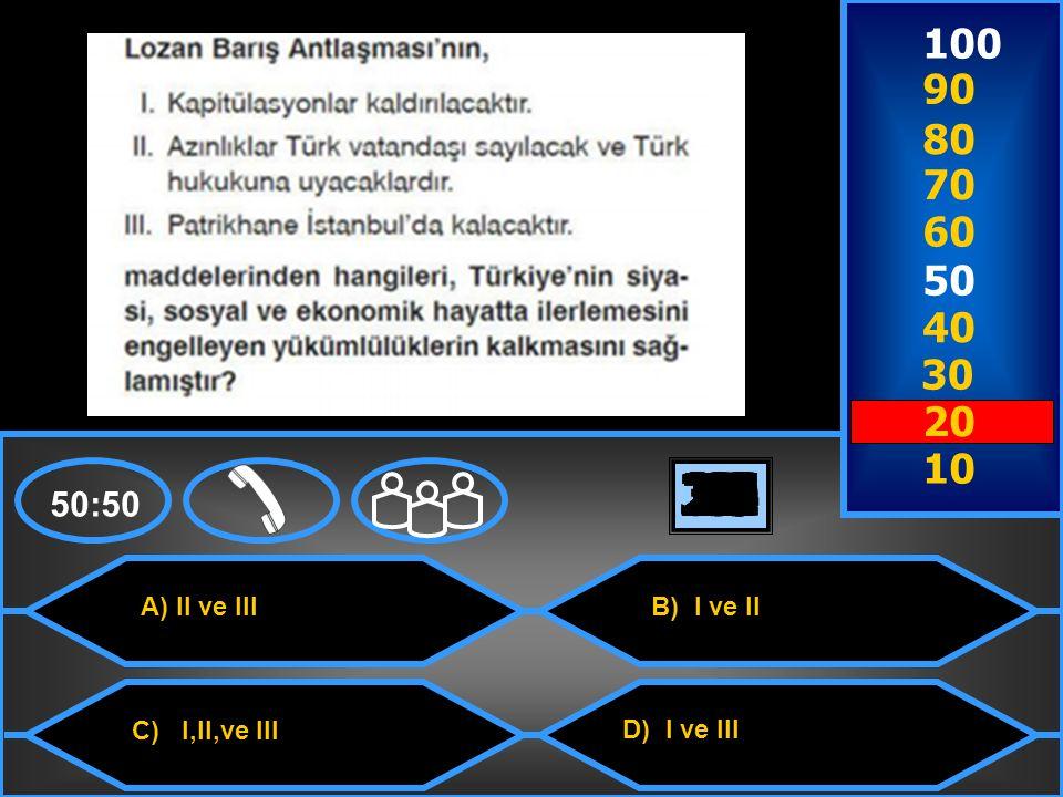 A) Ermenistan C) Fransa B) Sovyet Rusya D) Afganistan 50:50 100 9090 8080 7070 6060 50 40 30 20 10 302928272625242322212019181716151413121110987654321 Sevr Barış Antlaşması'nın geçersizliğini ilk defa hangi devlet kabul etmiştir?