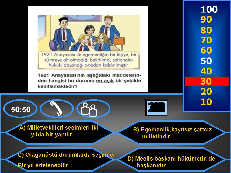 A) Milletvekilleri seçimleri iki yılda bir yapılır.