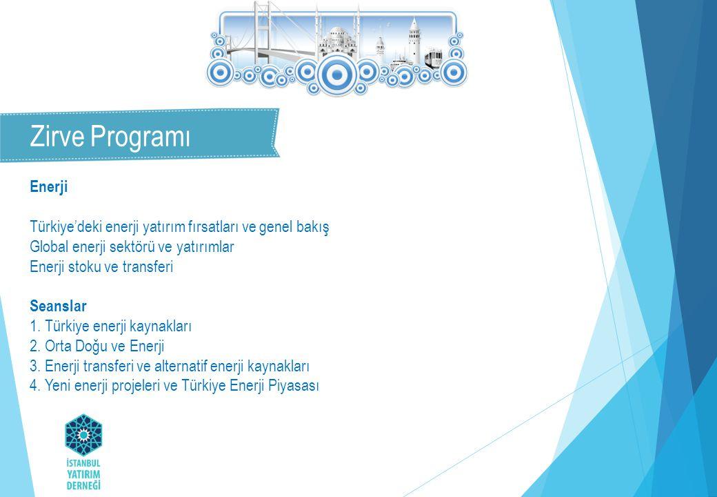 Enerji Türkiye'deki enerji yatırım fırsatları ve genel bakış Global enerji sektörü ve yatırımlar Enerji stoku ve transferi Seanslar 1.
