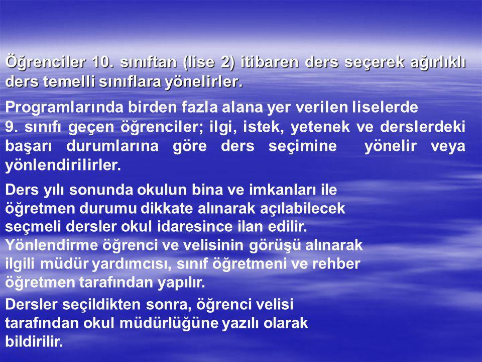 DERSLER DERS SAATİ MATEMATİK4 GEOMETRİ2 FİZİK3 KİMYA3 BİYOLOJİ2 TOPLAM14 MF-1 MF-4