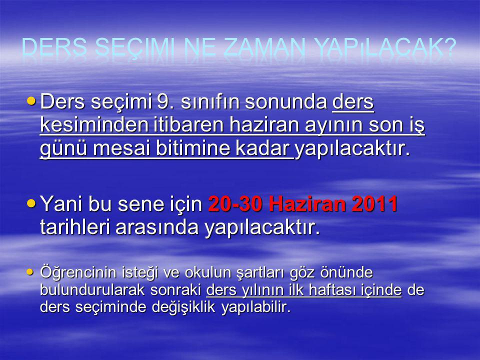 SIRADERSLER HAFTALIK DERS SAATİ 1 Dil ve Anlatım (2) 2 Türk Edebiyatı (1) 3Matematik(2)(4) 4Geometri(1)(2) 5Fizik(2)(3) 6Kimya(2)(3) 7Biyoloji(2)(3) 8Tarih(2) 9Coğrafya(2) 10Psikoloji(2) 11 Yabancı Dil (4)(6) 12 İkinci Yabancı Dil (2)(4)