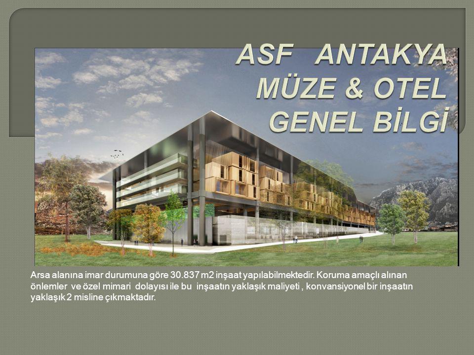 Arsa alanına imar durumuna göre 30.837 m2 inşaat yapılabilmektedir.