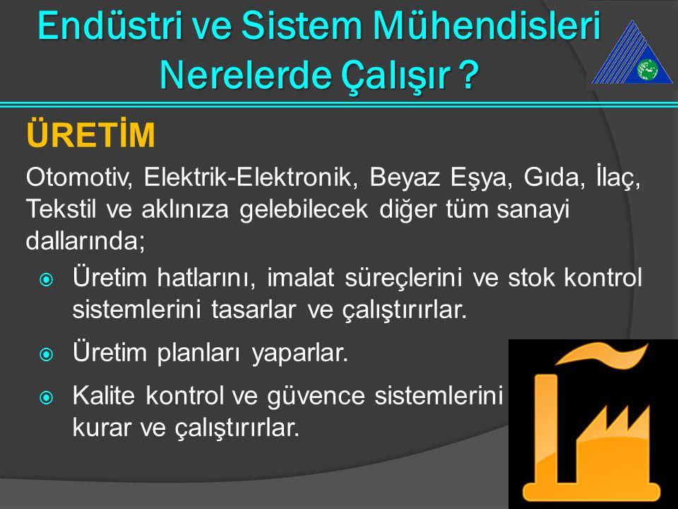 Endüstri ve Sistem Mühendisi Kimdir ? Endüstri ve Sistem Mühendisi;  hızla gelişmekte olan teknolojiyi öğrenen kullanan geliştiren,  belirli maliyet
